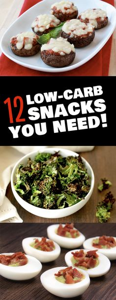 Looking for snacks that are low in calories AND low in carbs? This list features snacks with 150 calories or less, plus a carb count of 10g or less. PIN!