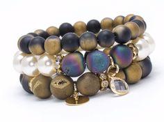 Bracelets – Set bracelets ABD998 – a unique product by Blackif on DaWanda