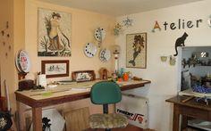 Casa e Atelier de mosaico, marcenaria e decoração, quer vender suas peças e…