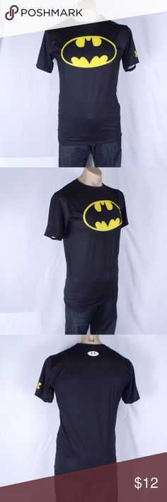 """Under Armour Batman Compression Shirt Size: XL  ~ Under Armour Compression, Heat Gear, Batman shirt. ~ Measurements: Underarm to underarm 18"""" and length 26.5"""" ~ Shirt is in nice condition Under Armour Shorts Athletic"""