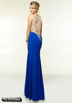 Prom Dresses / Gowns Style 97098: Jersey and Mesh with Embroidery and Beading http://www.morilee.com/prom/paparazzi/97098