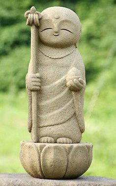 Japan Collection Healing Ksitigarbha / made of Granite / JIZO 地蔵 / H 35 cm
