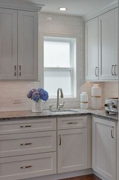 We all know that granite is a great choice for countertops, but the really exciting part of using natural stone is that each piece is unique. Find out what stone is in this gorgeous kitchen built by Potter Construction and designed by Collaborative Interiors today on the blog! Beautifully photographed by Dale Lang at NW Architectural Photography.