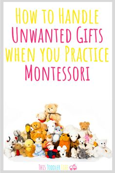 Learn how to handle unwanted Christmas gifts when you practice Montessori at home. Montessori Christmas with your Montessori toddler at home. Montessori Education, Montessori Classroom, Montessori Toddler, Montessori Activities, Toddler Preschool, Toddler Toys, Family Activities, Holidays With Toddlers, Montessori Practical Life