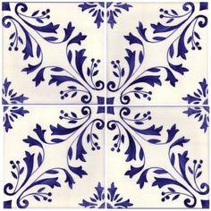 Sintra Antique Handpainted, Portuguese, Tiles - A1-Portuguese tiles - 149-Madeira 4 tile: