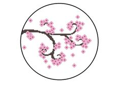 Counted Cross Stitch Pattern PDF - Cherry Blossom Branch Flowers