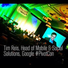 Photos from Day 1 of #PivotCon via @DcAbFab - @katielance  Fascinating. Tim Reis, head of mobile & social solutions @google #pivotcon at Pivot Conference