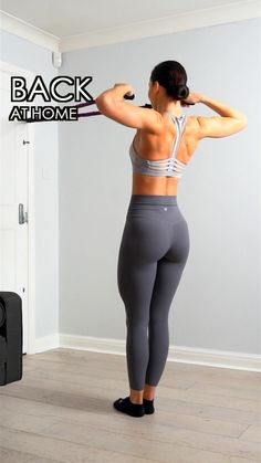 Back Workout Women, Back Fat Workout, Fitness Workout For Women, Home Back Workout, Black Girls Workout Too, Back Workouts For Women, Upper Body Home Workout, Shoulder Workout At Home, Chest And Back Workout