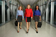 Southwest Airlines' new employee-designed uniforms for cabin crews. (Credits: Southwest Airlines) - All employees will begin wearing the new uniform in mid-June 2017