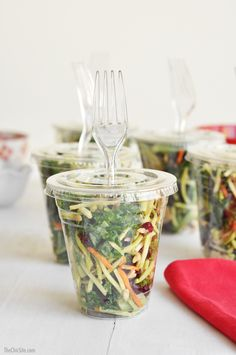 To-Go Salads - great for a BBQ Party or picnic!