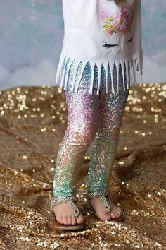 9a18e34e2a924 Handmade Unicorn leggings- girl leggings- toddler leggings- metallic  sparkly leggings- rainbow leggings