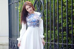 Russian style Alarusse Pavlovo posad shawl Russian dress If you want by this dress - ask me