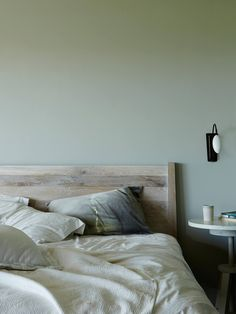 10 Rooms That Will Make You Want Sage Green Walls (The Edit) It's amazing what a fresh coat of paint can do to make your home sales-worthy! Green Bedroom Walls, Sage Green Bedroom, Sage Green Walls, Light Green Walls, Bedroom Bed, Bedroom Decor, Master Bedroom, Light Blue, Sage Green Paint