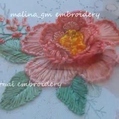 Hand Embroidery Patterns Flowers, Basic Embroidery Stitches, Hand Embroidery Videos, Embroidery Stitches Tutorial, Embroidery Flowers Pattern, Creative Embroidery, Hand Embroidery Designs, Bordados Tambour, Amazon