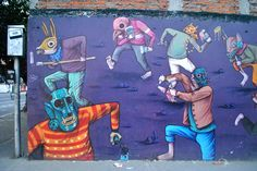 This is one of my favourites! Street art mural, Mexico City.