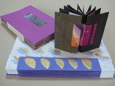 """""""umgekehrte"""" Piano Hinge Bindung, da die """"Schlingen"""" zum Einstecken der """"Sicherungen"""" nach innen stehen Handgefertigte Bücher: Anleitung: Eine Buchstruktur aus Australien"""
