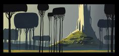 Background painting for Disney by Eyvind Earle