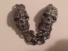 #dlawlessjewelry.com #dannylawless #necklace #silver #charm #bracelet #ritual #chain #skull #handcarved Animal Skulls, Hand Carved, Carving, Charmed, Jewellery, Chain, Beads, Bracelets, Unique