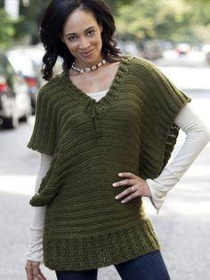 V-Topper | Yarn | Free Knitting Patterns | Crochet Patterns | Yarnspirations | I'm going to make this