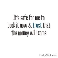 """It's safe…."" Inspiring quotes about money from Denise Duffield-Thomas, author of ""Get Rich, Lucky Bitch"""