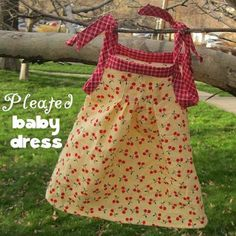 Pleated Baby Dress Tutorial & Free Pattern #PeekabooPatternShop