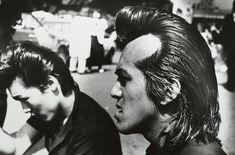 """A Dutch Street Photographer Who Pursued Darker Truths Ed van der Elsken, """"Rockers, Harajuku, Tokyo"""" Red Bangs, Amsterdam, Cotton Candy Hair, Punk Boy, Tokyo, William Klein, Berenice Abbott, Edward Weston, Moving To Paris"""