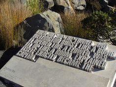 beautiful concrete typography