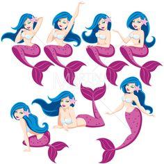 Mermaid Set by martinmalchev on Etsy