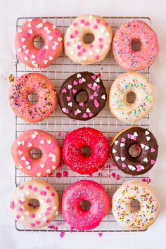 Colorful Homemade Donut Glaze