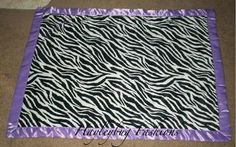 Zebra baby blanket  can personalize for free by hayleybugfashions, $25.00