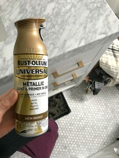 Favorite Spray Paint and Rub n' Buff Experience – Nesting With Grace Looking to go gold with the fixtures in your home? I'm sharing the best gold spray paint and spray paint tips in this post. Best Gold Spray Paint, Spray Paint Tips, Bronze Spray Paint, Rustoleum Spray Paint Colors, Metallic Gold Spray Paint, Gold Paint, Spray Paint Cabinets, Spray Paint Furniture, Gold Furniture
