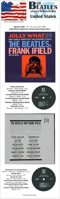 The Beatles US LP Vee Jay VJLP 1085 Jolly What! England's Greatest Recording Stars Frank Ifield Long Play Vinyl Record Discography