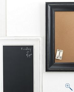 These would be great inspiration boards in a dorm room. {Classic Bulletin Board or Chalkboard}