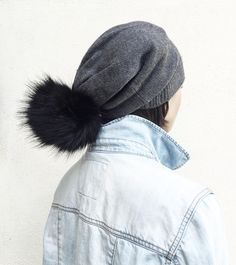 The Scraffs slouchy beanie with it's pretty fabulous oversized faux fur pom pom.