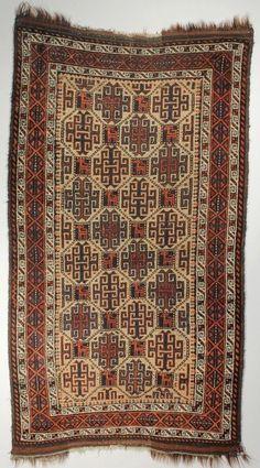 Camel Hair Baluch Rug, Northeast Persia; Camel hair; Late 19th century; 2-8 x 4-7 ft.