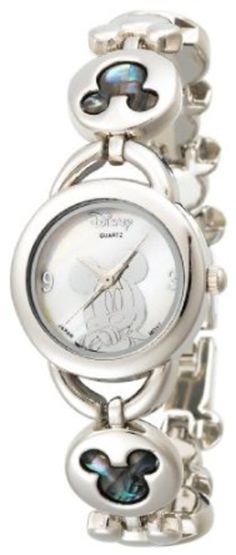 Disney Women's Mickey Mouse Abalone Stone Links Bracelet Watch #mickeymouse #disney #watch