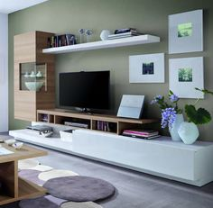Home Decor: 22 Tv Stands With Storage Cabinet Design Ideas Decor, Home, Tv Stand With Storage, Living Room Wall Units, Cabinet Design, Interior Design, Hall And Living Room, Living Decor, Hygge Home