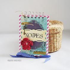 Odskocznia vairatki: Kobiecy notesik Notebooks, It Works, Scrapbooking, Cover, Handmade, Art, Art Background, Hand Made, Kunst