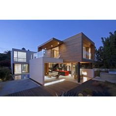 Modern Home Employing Sustainable Design Techniques in LA ❤ liked on Polyvore featuring home