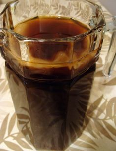 Coffee Kombucha is made like regular kombucha. It seems to make the coffee more alkaline and is easier on the stomach. Plus it is delicious and easy to make.