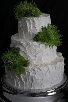 great rough icing wedding cake