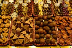 Pralines and other chocolate delights, La Boqueria, Barcelona