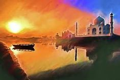 Taj Mahal, Painting, Art, Art Background, Painting Art, Kunst, Paintings, Performing Arts, Painted Canvas