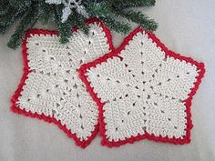 Christmas Star dishcloths