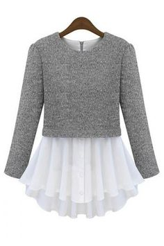 Image result for sweater with skirt sewn to hem