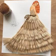 Αποτέλεσμα εικόνας για armenian fashion illustrator creates stunning dresses from everyday objects