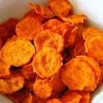 Try these delicious organic sweet potato chips. Super easy to make and full of flavor!