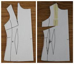 Základy střihové manipulace. Ze začátku je určitě nejpraktičtější vzít nějaký konfekční střih a šít podle něj, nicméně  vás tento přístup bude dost omezovat v tom, co chcete... Sewing, Clothes, Patterns, Fashion, Scrappy Quilts, Blouses, Atelier, Outfit, Block Prints
