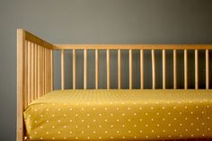 This beautiful modern polka dot design will look absolutely lovely in your woodland theme or simple mid-century inspired nursery. This color is a