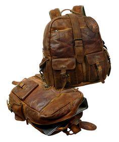 Landleder Rugged Hide Jerome Old School Rucksack Landleder Unisex, Old School, Leather Backpack, The Selection, Backpacks, Rugs, Products, Fashion, Side Bags
